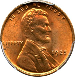 Image of 1925 1c PCGS MS65 RD
