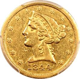 Image of 1844-O $5 PCGS XF40