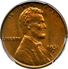 Image of 1931-S 1c PCGS MS65 RB