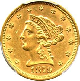 Image of 1879 $2 1/2 PCGS AU58