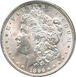 Image of 1896 $1 PCGS MS64