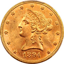 Image of 1894 $10 PCGS MS63
