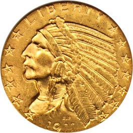 Image of 1911-S $5 NGC MS63