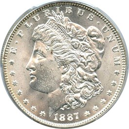 Image of 1887 $1 PCGS MS65