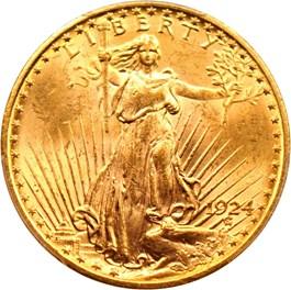 Image of 1924 $20 PCGS MS64