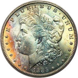 Image of 1885-CC $1 PCGS/CAC MS65 - No Reserve!