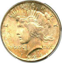 Image of 1924 $1 PCGS MS65