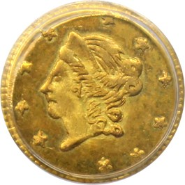 Image of 1871 Cal. Gold 50c PCGS MS64 (OGH, BG-1011)