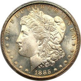 Image of 1885-CC $1 PCGS/CAC MS66+ PL