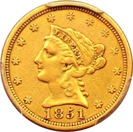 Image of 1851-O $2 1/2 PCGS XF45