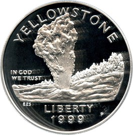 Image of 1999-P Yellowstone $1 PCGS Proof 69 DCAM