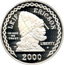 Image of 2000-P Leif Ericson $1 PCGS Proof 69 DCAM