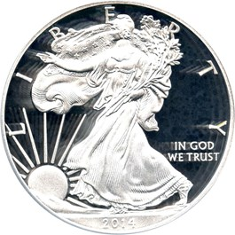 Image of 2014-W Silver Eagle $1 PCGS Proof 70 DCAM