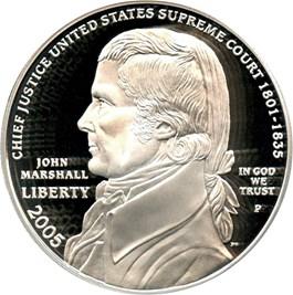Image of 2005-P Marshall $1 PCGS Proof 69 DCAM