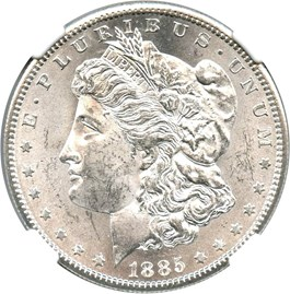 Image of 1885-S $1 NGC/CAC MS63