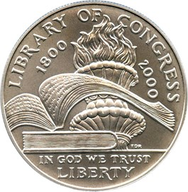 Image of 2000-P Library of Congress $1 PCGS MS69