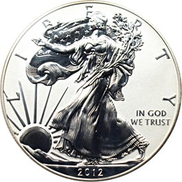 Image of 2012-S Silver Eagle $1 PCGS Proof 69 (Reverse Proof )
