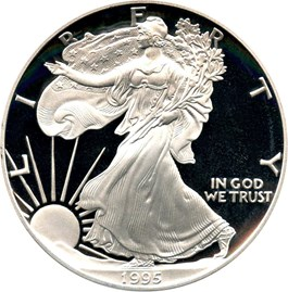 Image of 1995-P Silver Eagle $1 PCGS Proof 69 DCAM