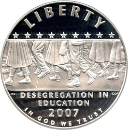 Image of 2007-P Desegregation-Little Rock $1 PCGS Proof 70 DCAM