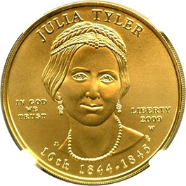 Image of 2009-W Julia Tyler $10 NGC MS70