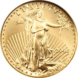 Image of 2006 Gold Eagle $5 NGC MS70 (First Strike)