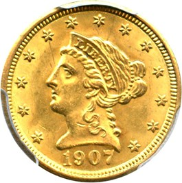 Image of 1907 $2 1/2 PCGS MS63