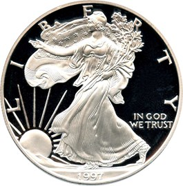 Image of 1997-P Silver Eagle $1 PCGS Proof 70 DCAM