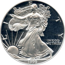 Image of 1999-P Silver Eagle $1 PCGS Proof 70 DCAM