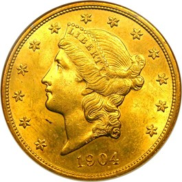 Image of 1904 $20 NGC MS64
