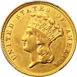 Image of 1854 $3 PCGS AU55