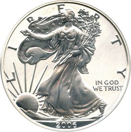 Image of 2006-P Silver Eagle $1 PCGS Proof 70 (Reverse Proof)