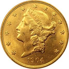 Image of 1904 $20 NGC MS64