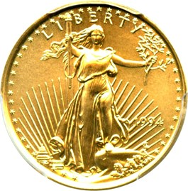 Image of 1994 Gold Eagle $10 PCGS MS69