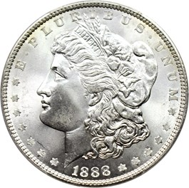 Image of 1888 $1 PCGS/CAC MS66+