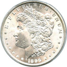 Image of 1896 $1 PCGS/CAC MS66+
