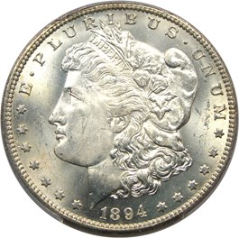 Image of 1894-S $1 PCGS MS65+
