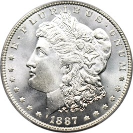 Image of 1887 $1 PCGS MS67