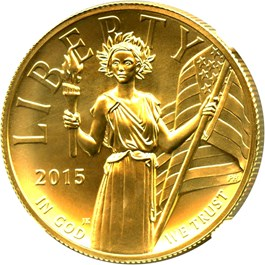 Image of 2015 High Relief $100 NGC MS70 (Early Release)