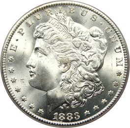 Image of 1883-CC $1 PCGS Secure MS67