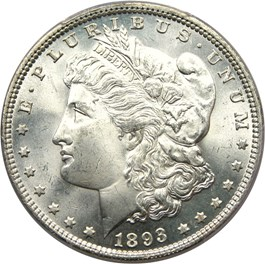 Image of 1893 $1 PCGS MS65