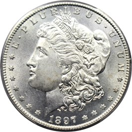 Image of 1897-S $1 PCGS/CAC MS66