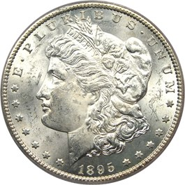 Image of 1895-S $1 PCGS MS64