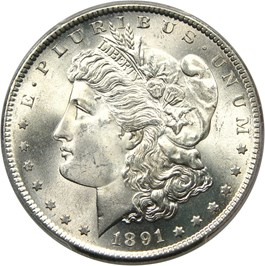 Image of 1891-S $1 PCGS MS66