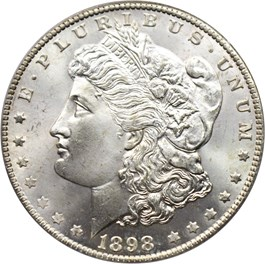 Image of 1898-O $1 PCGS MS67