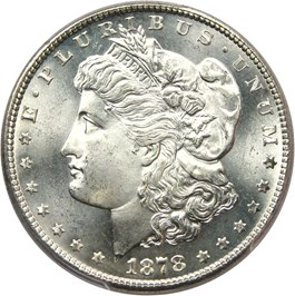Image of 1878-S $1 PCGS MS66+