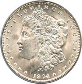 Image of 1904-O $1 PCGS MS66