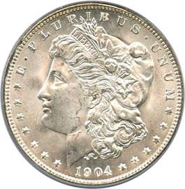 Image of 1904-O $1 PCGS MS66