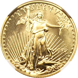 Image of 1995 Gold Eagle $10 NGC MS69