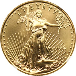 Image of 1996 Gold Eagle $25 NGC MS69