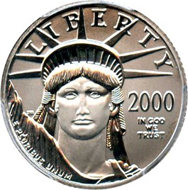 Image of 2000 Platinum Eagle $25 PCGS MS69